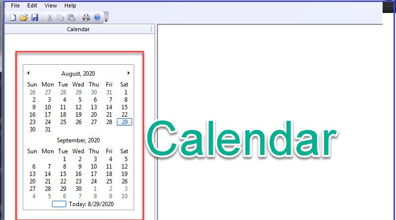 MFC Project Sample: Kỹ thuật tạo thanh Calendar Bar